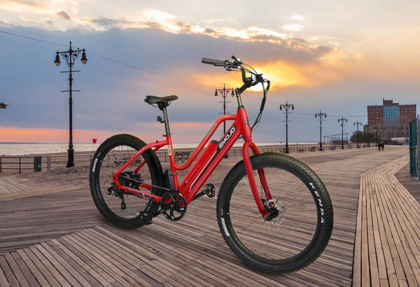 Emojo Panther 500W 48V Hybrid Cruiser Step-Through eBike Lifestyle