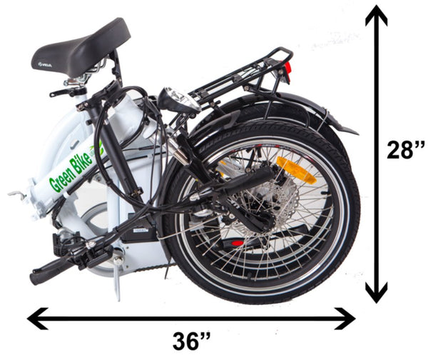 Green Bike USA GB5 Folding Commuter eBike Folded