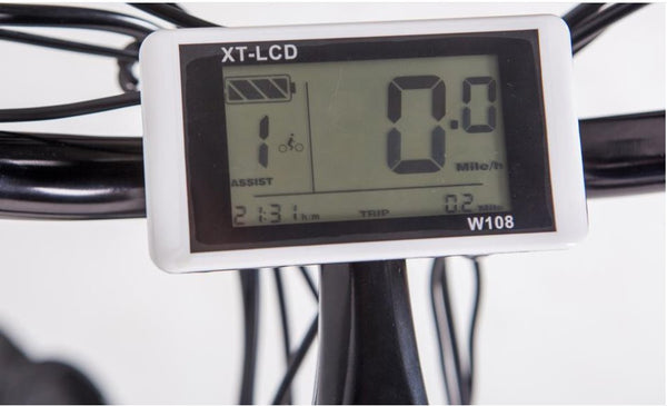 Green Bike USA GB2 Beach Cruiser Step-Through eBike LCD Display