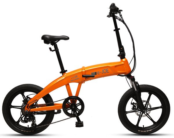 e-JOE Epik Carbon 500W Folding Cruiser eBike Tangerine Right Side