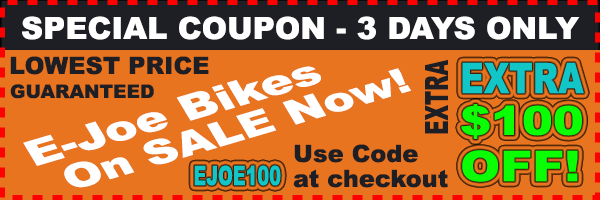 e-JOE Koda Sport Commuter eBike Sale $100 Off Lowest Price Online