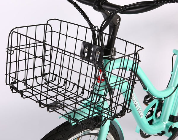 X-Treme Malibu Elite Max 36 Volt Step Through Beach Cruiser Comfort eBike Basket
