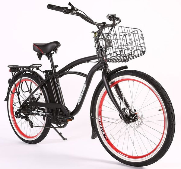 X-Treme Newport Elite Max 36 Volt Beach Cruiser Comfort eBike Right Side Angle