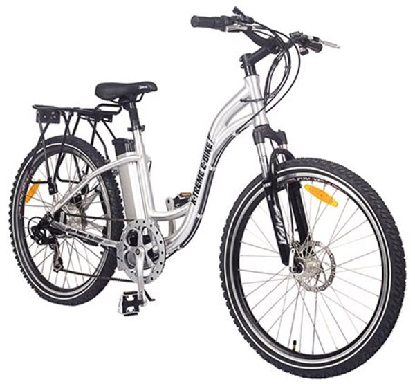 X-Treme Trail Climber Elite Step-Through Commuter Mountain eBike Right Side Angle