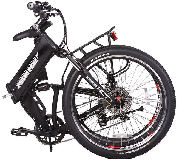 X-Treme X-Cursion Elite Folding Full Suspension Mountain eBike Folded