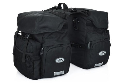 Biktrix Canvas Pannier Bags Black