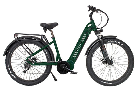 Biktrix Juggernaut Classic Duo 750W 48V Step-Through Fat Tire Mid Drive eBike Emerald Green Right Side