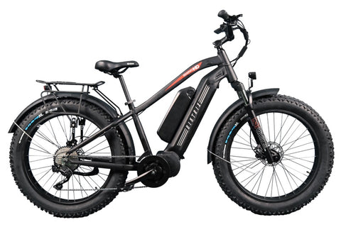 Biktrix Juggernaut HD Duo Step-Over Fat Tire Mid-Drive eBike Black Right Side