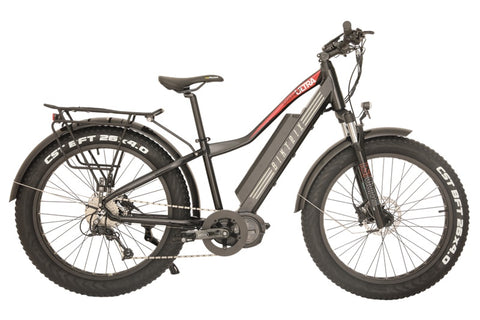 Biktrix Juggernaut Ultra 1000 Fat Tire Mid-Drive eBike Satin Black Right Side