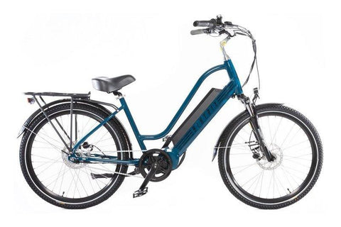 Biktrix Stunner 750W Cruiser Step-Through Mid Drive eBike Prussian Blue Right Side