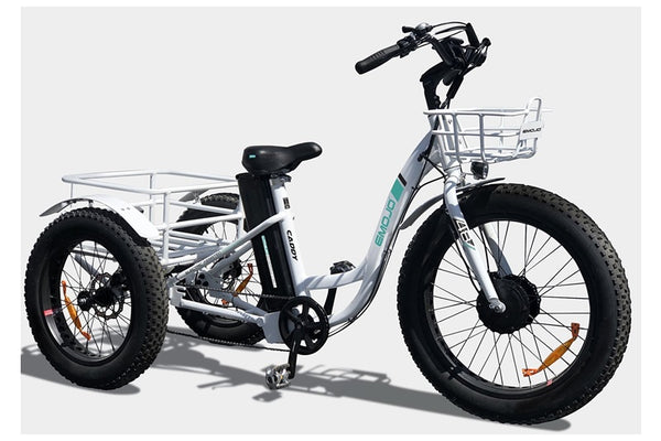 Emojo Caddy Fat Tire 500W 48V Electric Tricycle Right Sid Angle