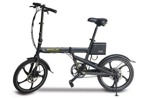 Emojo City Trek 300W 36V Folding eBike Black Left Side