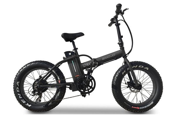 Emojo Lynx Fat Tire Folding 500W eBike Black Right Side