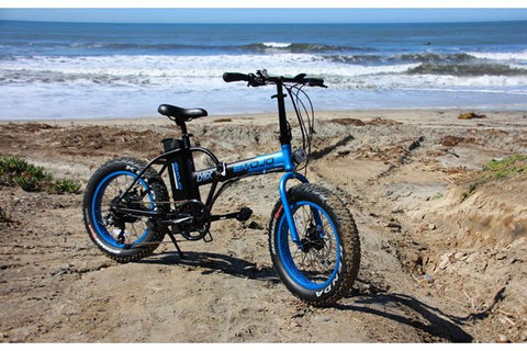 Emojo Lynx Fat Tire Folding 500W eBike Beach