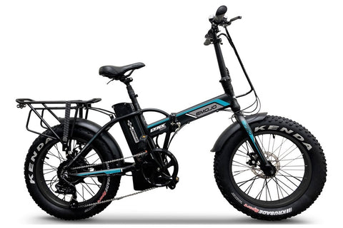 Emojo Lynx Pro 750W 48V Folding Fat Tire eBike Black Right Side