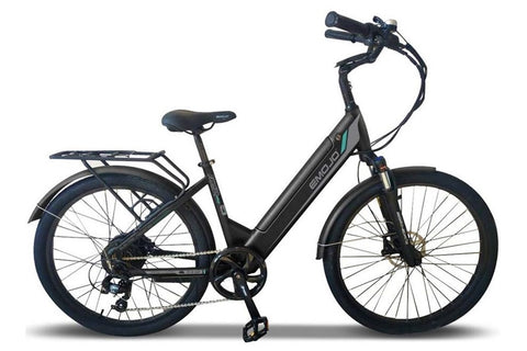 Emojo Panther Pro 500W 48V Hybrid Cruiser Step-Through eBike Black Right Side