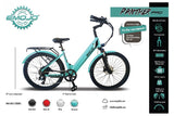 Emojo Panther Pro 500W 48V Hybrid Cruiser Step-Through eBike Features