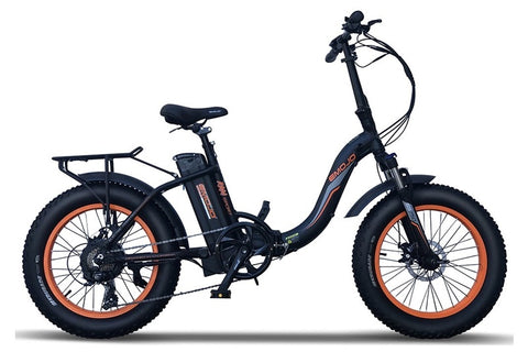 Emojo Ram Sport SS 750W 48V Folding Fat Tire Step-Through eBike Black Right Side