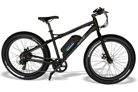 Emojo Wildcat Fat Tire 48V 500W Mountain eBike Black and Black Right Side