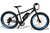 Emojo Wildcat Fat Tire 48V 500W Mountain eBike Black and Blue Right Side