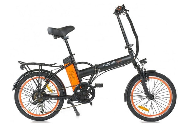 GreenBike - Electric Motion Cycoo Spirit 250W 36V Folding eBike Matte Black and Orange Right Side