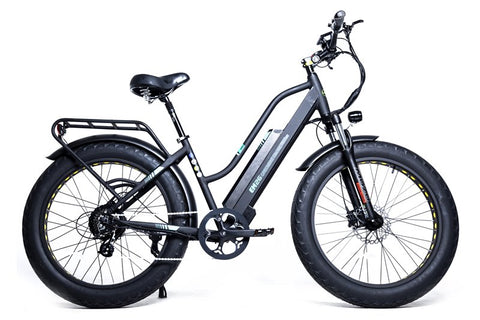 GreenBike - Electric Motion EM26 2021 Edition 750W 48V Fat Tire Step-Through Hybrid eBike Black Right Side