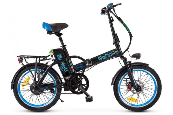 GreenBike - Electric Motion Urban 350W 36V Folding eBike Black and Blue Right Side