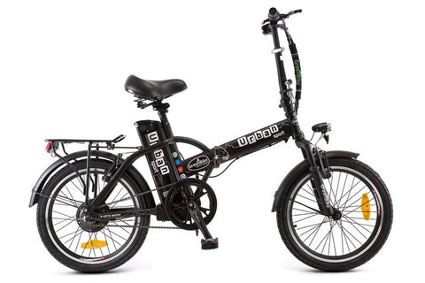 GreenBike - Electric Motion Urban 350W 36V Folding eBike Black and Silver Right Side