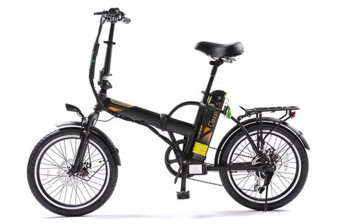 GreenBike - Electric Motion Classic HS 350W 36V Folding eBike Matte Black Left Side