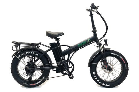 Green Bike USA GB1 500W Fat Tire Folding eBike Black Matte Right Side