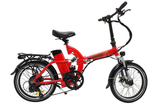 Green Bike USA GB500 Folding Commuter eBike Red Right Side