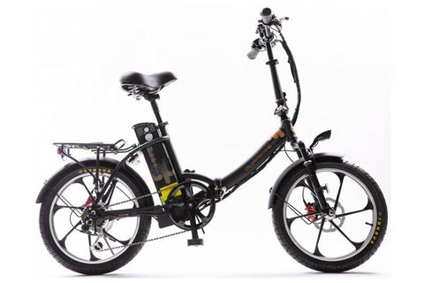GreenBike - Electric Motion City Premium 350W 48V Folding eBike Black Right Side