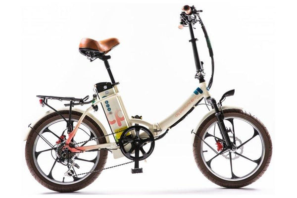 GreenBike - Electric Motion City Premium 350W 48V Folding eBike Cream and Pink Right Side