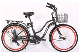 X-Treme Malibu Elite Step-Through Beach Cruiser eBike Black Right Side