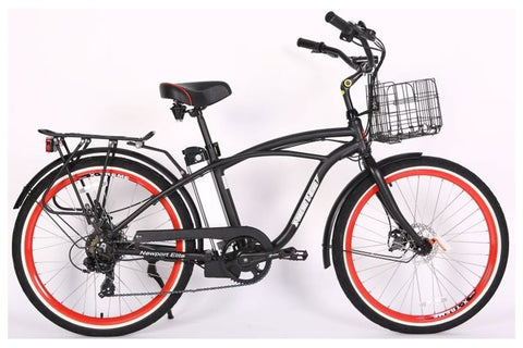 X-Treme Newport Elite Beach Cruiser eBike Black Right Side