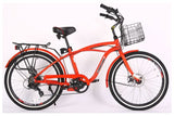 X-Treme Newport Elite Beach Cruiser eBike Metallic Red Right Side