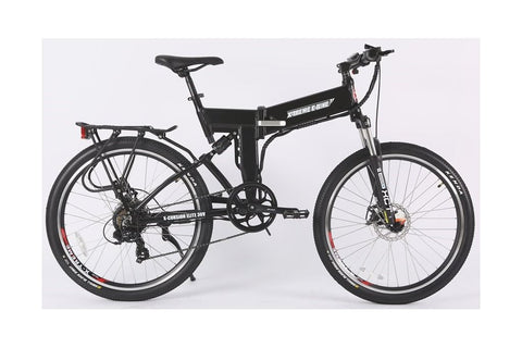 X-Treme X-Cursion Elite Max 36 Volt Folding Full Suspension Mountain eBike Black Right Side