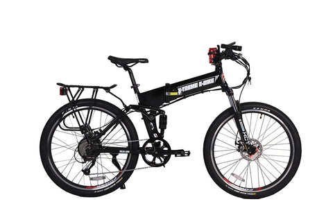 X-Treme Baja 500W 48V Folding Full Suspension Mountain eBike Black Right Side