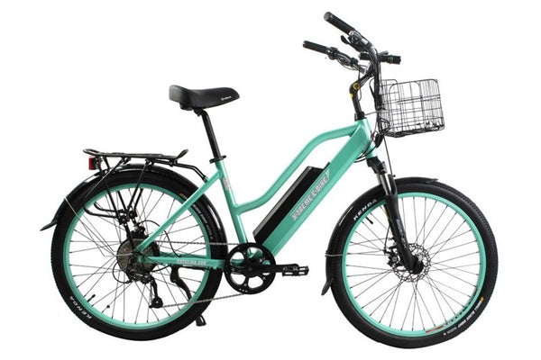 X-Treme Catalina 500W 48V Step Through Cruiser eBike Mint Green Right Side