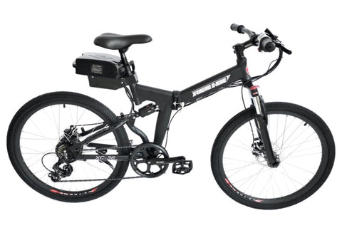 X-Treme XC-36 350W 36V Folding Mountain eBike Black Right Side
