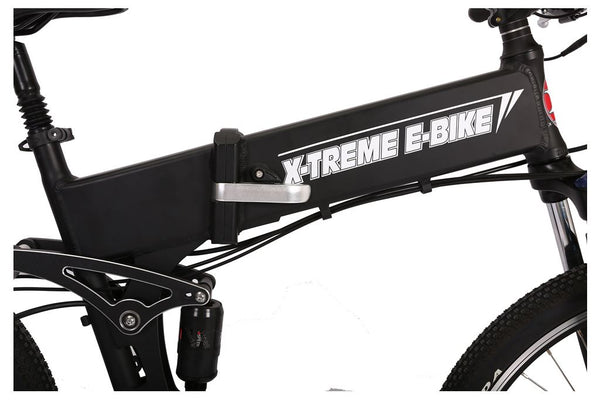 X-Treme Baja 48V 500W Folding Full Suspension Mountain eBike Folding Mechanism