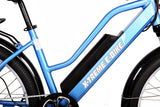 X-Treme Catalina 500W 48V Step Through Cruiser Commuter eBike Blue Battery