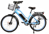 X-Treme Catalina 500W 48V Step Through Cruiser Commuter eBike Blue Left
