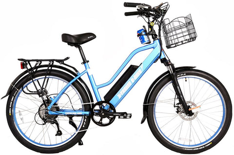 X-Treme Catalina 500W 48V Step Through Cruiser eBike Blue Right Side