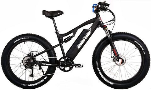 X-Treme Rocky Road 500W 48V Fat Tire Full Suspension eBike - ElectriCity Cycles