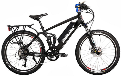 X-Treme Rubicon 500W 48V Full Suspension Mountain eBike Black Right Side