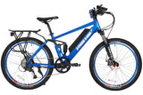 X-Treme Rubicon 500W 48V Full Suspension Mountain eBike Metallic Blue Right Side