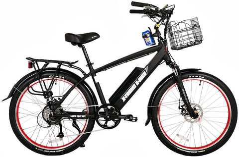 X-Treme Santa Cruz 500W 48V Cruiser Commuter eBike Black Right Side