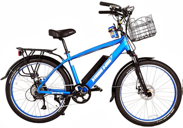 X-Treme Santa Cruz 500W 48V Cruiser Commuter eBike Blue