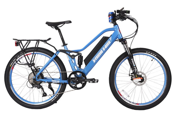 X-Treme Sedona 500W 48V Full Suspension Mountain Step Through eBike Blue